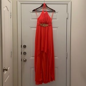 CACHE - DRESS -ORANGE -BRAND NEW/NEVER WORN -SIZE2
